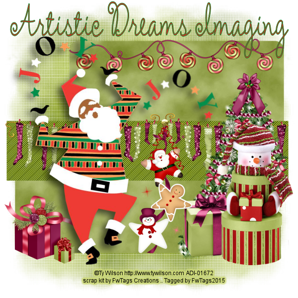 Joy of Santa Tag by Claire Slack