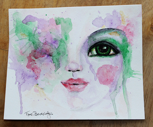 Face10 Green Eyed Lady by Tori Beveridge2016