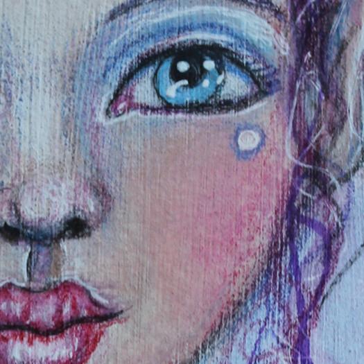 Close Up of Mixed Media Strangeling Fairy by Tori Beveridge 2016