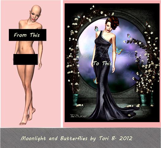 Moonlight and Butterflies by Tori Beveridge 2012 WIP
