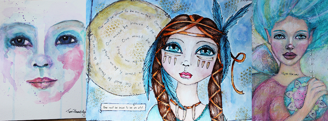 Mixed Media Art Sampler by Tori Beveridge