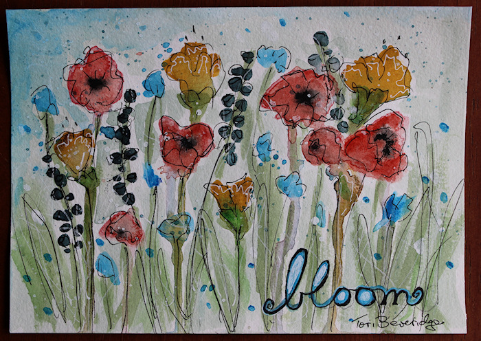 Bloom Watercolor Floral by Tori Beveridge 2016