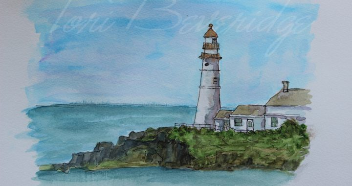 Lighthouse Sketch by Tori Beveridge