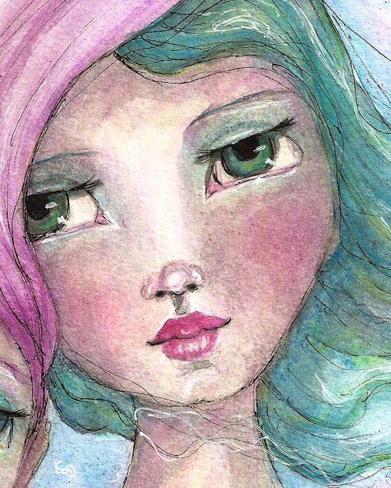 TwoGirlsGreenFaceCUDetail by Tori Beveridge
