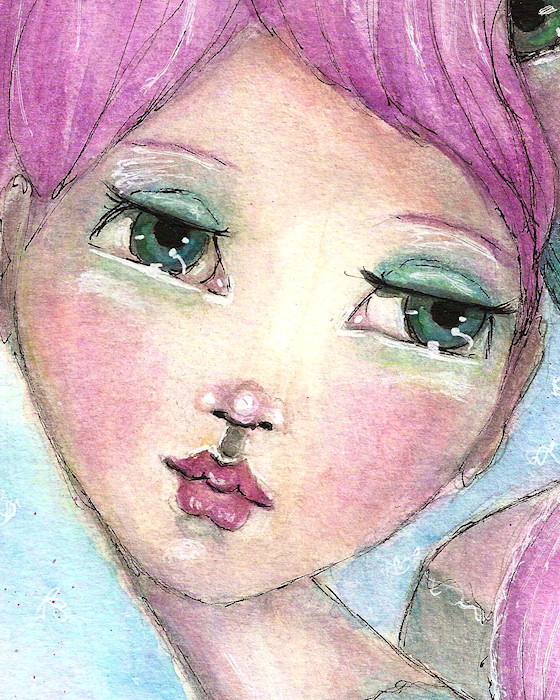 Two Girls Pink Face CU Detail by Tori Beveridge