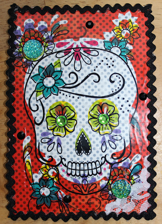 Day of The Dead Postcard by Amanda Cox