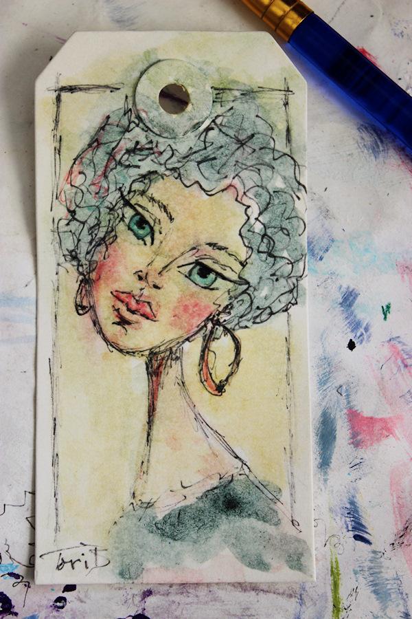 Speed Paint Tag in Watercolor by Tori Beveridge 2017