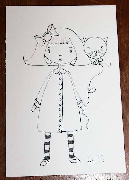 A crudoodle style swatchdoll by Tori Beveridge