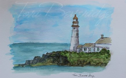 Lighthouse Sketch by Tori Beveridge